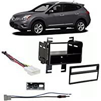 Fits Nissan Rogue 2011 Single/Double DIN Harness Radio Install Dash Kit