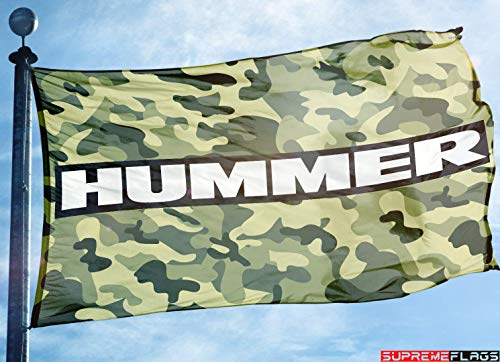 (Hummer Flag Banner 3x5 H1 H3 H3 H3T General Motors Military Army Garage Man)