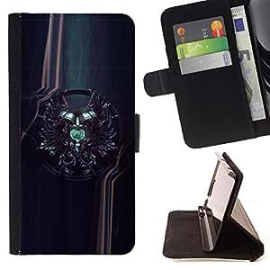 For LG G4 Case , Sci Fi Crest- la tarjeta de Crédito Slots PU Funda de cuero Monedero caso cubierta de piel
