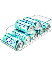 iDesign 70930 Koelkast/Freeze Binz Opbergdozen, Plastic Keuken Opbergcontainer voor de Koelkast met ruimte voor 9 Drankjes, Clear