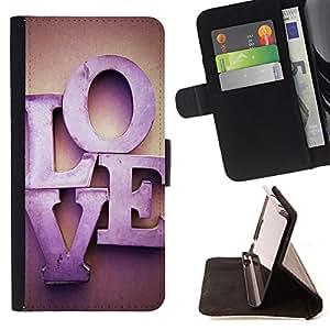 Devil Case- Estilo PU billetera de cuero del soporte del tir¨®n [solapa de cierre] Cubierta FOR Apple Iphone 5C- Love romantic Heart