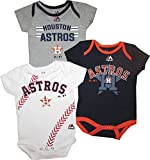 "Houston Astros Baby / Infant ""Three Strikes"" 3 Piece Creeper Set"