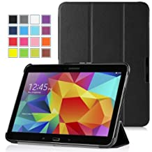 MoKo Samsung Galaxy Tab 4 10.1 / Tab 4 Nook 10.1 2014 Case - Ultra Slim Lightweight Smart-shell Stand Case for Samsung GALAXY Tab 4 10.1 inch, BLACK