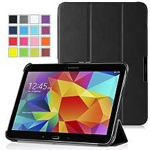 MoKo Samsung Galaxy Tab 4 10.1 / Tab 4 Nook 10.1 2014 Case - Ultra Slim Lightweight Smart-shell Stand Case for Samsung GALAXY Tab 4 10.1 inch, BLACK