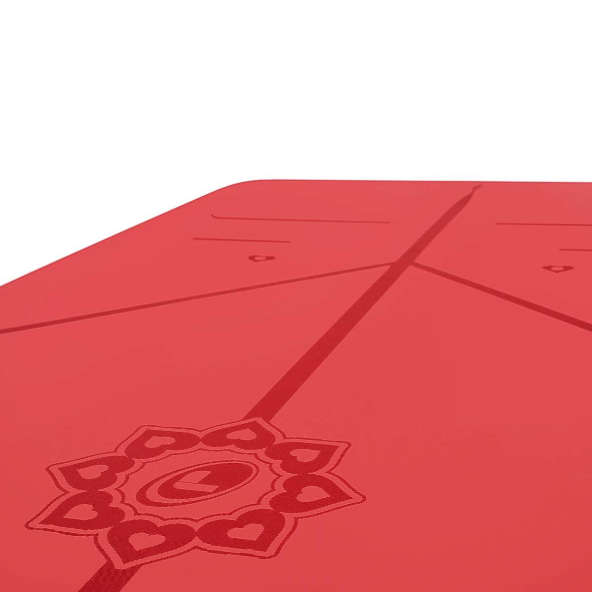 Mejor Alfombrilla de Yoga Antideslizante del Mundo Colchoneta De Yoga Ecol/ógica Edici/ón Especial Love con Sistema De Alineaci/ón Original y Patentado Liforme Esterilla Yoga Love De Viaje