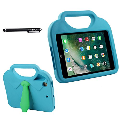 TabPow Suit & Tie iPad Mini Case - [Shockproof][Drop Protection][Heavy Duty] Cute Kids Children EVA Case Cover with Carrying Handle and Stand For iPad Mini and iPad Mini 2 with Retina, Turquoise Blue Photo #9