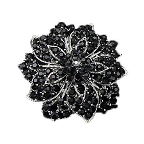Weixinbuy Crystal Bouquet Rhinestone Flower Brooch Pins Wedding (Rhinestone Flower Bouquet Brooch)