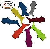 XKYMADE 8 Pack Shark Popsicle Holders Pop Ice Sleeves Freezer Pop Holders 21x8cm