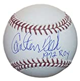 Carlton Fisk Autographed OML Baseball 1972 ROY Chicago White Sox/Boston Red Sox