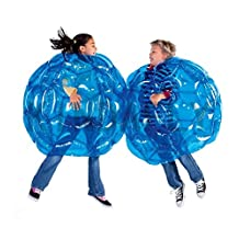 KINDAFLY 0.9M 36'' Diam Blue Kids Buddy Bumper Ball Bubble Outdoor Play Ball Game Inflatable Bubble Soccer Ball