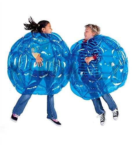 KIDSFLY 36'' diam 0.9M Blue Kids Buddy Bubble Outdoor Play Ball Game Inflatable Bubble Soccer Ball