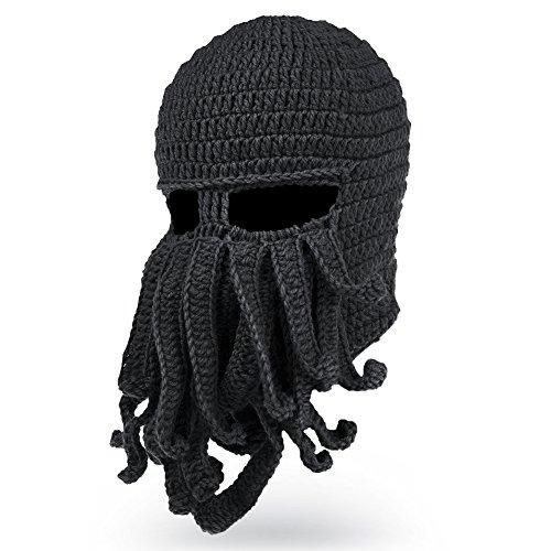 cef5f2adff0 VBIGER Beard Hat Beanie Hat Knit Hat Winter Warm Octopus Hat Windproof Funny  For Men