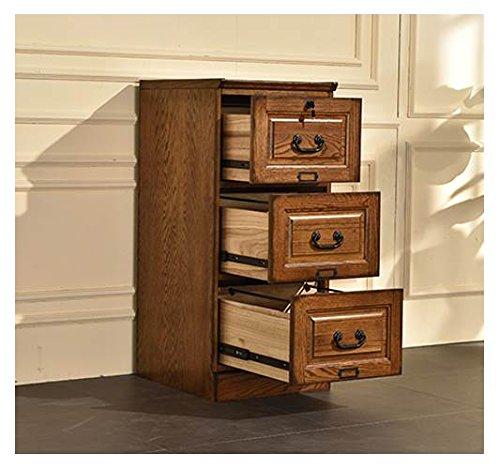 Cabinet Walnut Burnished (3-Drawer File Cabinet in Burnished Walnut Finish)