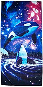 KAUFMAN - Space Orcas Printed Beach Towel by ROYCE