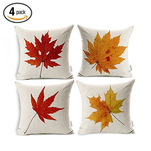 Maple Leaves Throw Pillow Covers