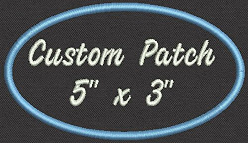(Oval Custom Embroidered Name Patch - 5