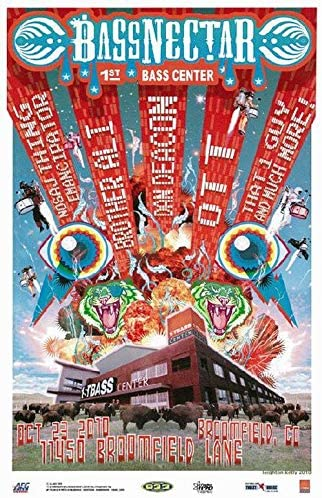 "inch BASSNECTAR Poster Wall Print 24/"" x 36/"" 4"