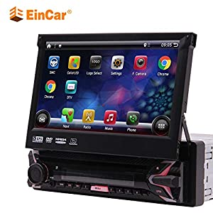 Android 9.0 7inch Flip Out Capacitive Touch Screen 1Din Car DVD CD Player 1024*600p 4Core Single Din Radio GPS Car…