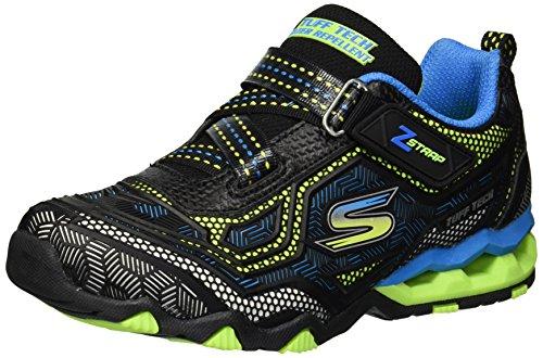 Skechers Kids Boys' Hydro-Static-Geo Pulse Sneaker,black/blue/lime,4 Medium US Big ()