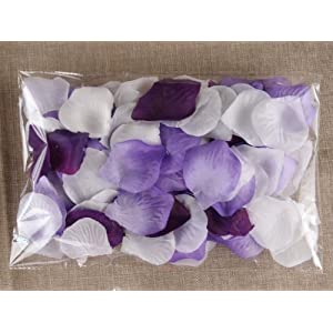 Schoolsupplies 1000pc Mixed Color Rose Petals Purple,lavender,white Wedding Table Decoration 45