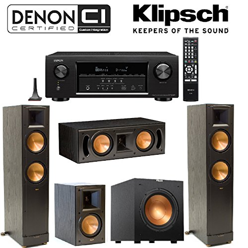 Denon AVR-S720W 7.2 Channel Full 4K Ultra HD AV Receiver + Klipsch RB-51 II Bookshelf + Klipsch - RC-42 II Center + Klipsch R-10SW Subwoofer + Pair of Klipsch RF-82 - Bundle Subwoofers