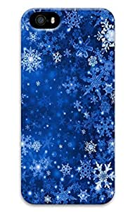 iPhone 5 Case, iPhone 5S Cases - Scratch Protection 3D Print Hard Case for iPhone 5/5s Winter Snowflakes Thin Fit Hard Back Case for iPhone 5/5S