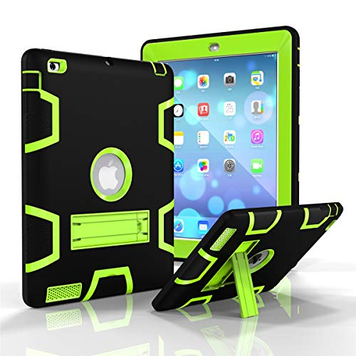 - AICEDA iPad 2 3 4 Case, Soft Grip TPU Thin [ Slim Fit ] Protect Cover Shock Absorption Premium Durable Cell Phone Cases Bumper [Black + Olivine ]