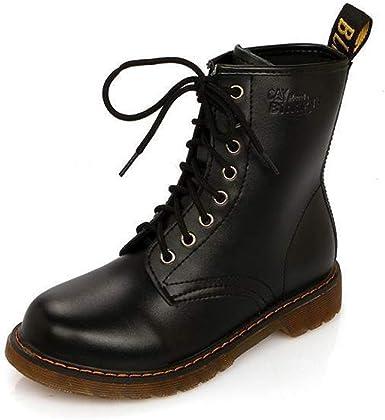 Luiyy Bota Agua Mujer Hombre Chelsea Jardín Trabajo Lluvia Tobillo Botas Festival Moda Invierno Zapatos Antideslizante Impermeable Lace Up Boots