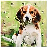 3dRose LLC Beagle Puppy Desk Clock, 6 by 6-Inch For Sale