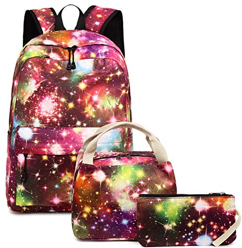 Girls School Backpack Galaxy Teens Kids School Bags Bookbag with Laptop Sleeve (Galaxy Purple-0034) (Girls Teen For Cool Backpacks)