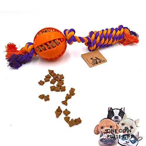 PetFun Pets Large Indestructible Cotton Knotted Rope Ball Toy for Aggressive Dog Chewer ()