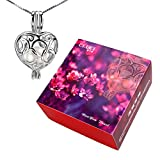 Gift Box 6-7mm Akoya Cultured Pearl in Oyster with 925 Silver Heart Pendant
