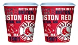 Set of 2 Boston Red Sox 3 Liter Reusable Plastic Snack Buckets!