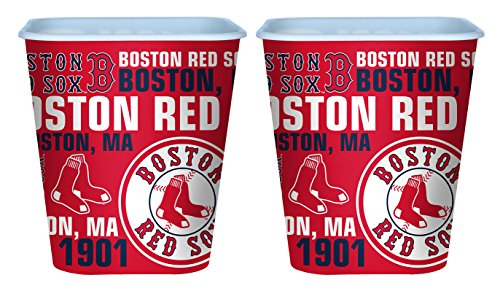 Set of 2 Boston Red Sox 3 Liter Reusable Plastic Snack - Fourth July Of Diy Shirt