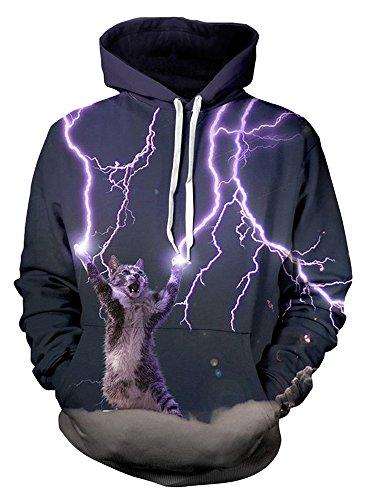 Delcoce Digital Pockets Pullover Sweatshirts