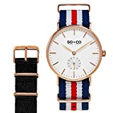 SO & CO New York 5265.set.4 Unisex Analog Slim Blue Wrist Watch with Exchangeable Strap