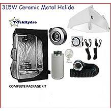 T-TekHydro GROW TENT 3 ft x 3 ft x 6 ft - 315W CERAMIC METAL HALIDE GROW LIGHT FIXTURE-ARMOUR SERIES - Fan-Filter