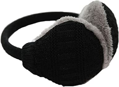 Womens//Mens Winter Furry Ear Warmers//Ear Muffs Headband Solid Removable Adjustable Earmuffs for Outdoor