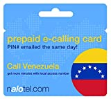 Prepaid Phone Card - Cheap International E-Calling Card $20 for Venezuela with same day emailed PIN, no postage necessary