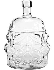 Umiwe Transparent Creative Star Wars 700ml Decanter Storm Trooper Awakens Helmet Glass Cup Heat-resistance Cup for Whisky, Beer, Brandy, Liqueur, Juice, and Red Wine