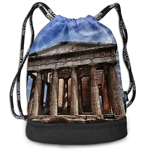 City_athens_parthenon Multifunctional Bundle Backpack Fashion Gym Bag String