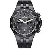 Edox Men's 'Delfin' Quartz Stainless Steel Dress Watch, Color:Black...