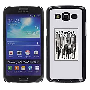 LECELL--Funda protectora / Cubierta / Piel For Samsung Galaxy Grand 2 SM-G7102 SM-G7105 -- Meaning Watercolor Abstract Businessman --