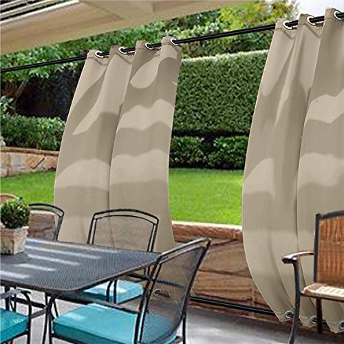 Panel 84l (cololeaf Windproof Outdoor Curtain with Top and Bottom Grommet,Water Resistant and Mildew Resistant for Patio Cabana Porch Gazebo Panel Drapery,Beige 84W x 84L Inch (1 Panel))