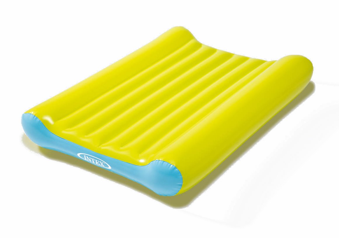Intex Couchage in Matelas à Langer Gonflable + Pompe Green / Blue INUP2|#Intex 9548422