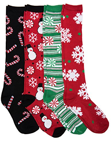 Knee High Festive Christmas Socks