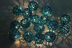 Colores turquesa rota de boda/20 titilantes luces de fiesta