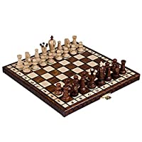 Chess Set Royal 30 European Wooden Handmade International Chess Set, 11 3/4""