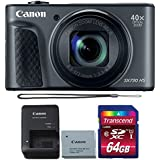 Canon Powershot SX730 HS Digital Camera (Black) with 64GB Memory Card