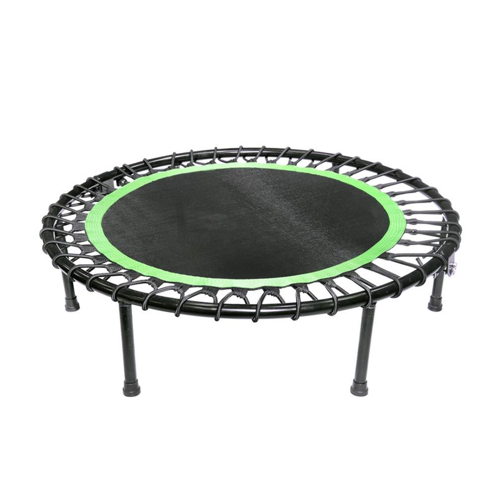 Faltbare 40-Zoll-Trampoline mit Sicherheitsunterlage, Spaß-Mini-Fitness-Trampolin für Kinder - Schwarz + Grün
